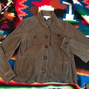 Olive green button light corduroy jacket